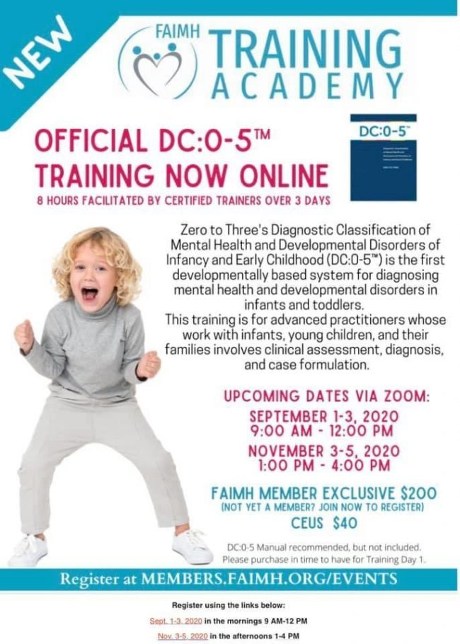 FAIMH Training Academy Official DC:0-5 Training Now Online